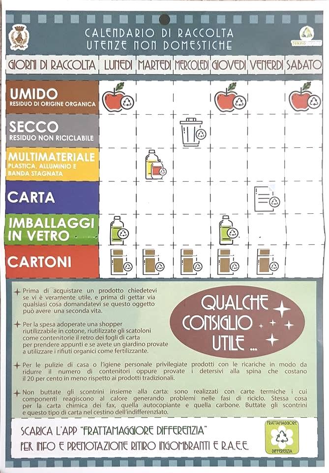 Calendario Raccolta Differenziata Napoli.Frattamaggiore Parte La Raccolta Differenziata Porta A
